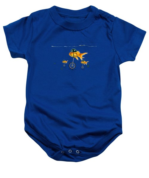 The Race  Baby Onesie by Mark Ashkenazi