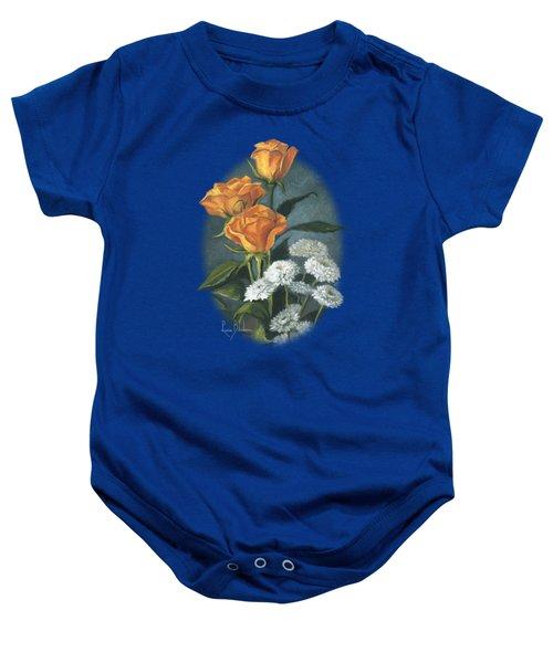 Three Roses Baby Onesie by Lucie Bilodeau