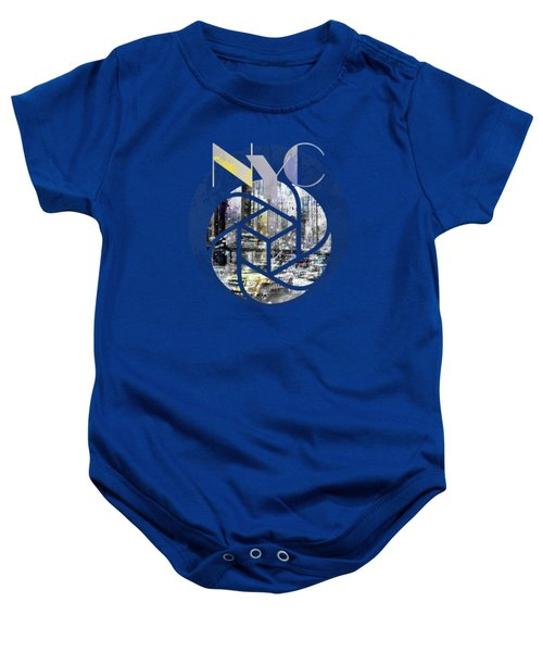 Trendy Design New York City Geometric Mix No 4 Baby Onesie by Melanie Viola