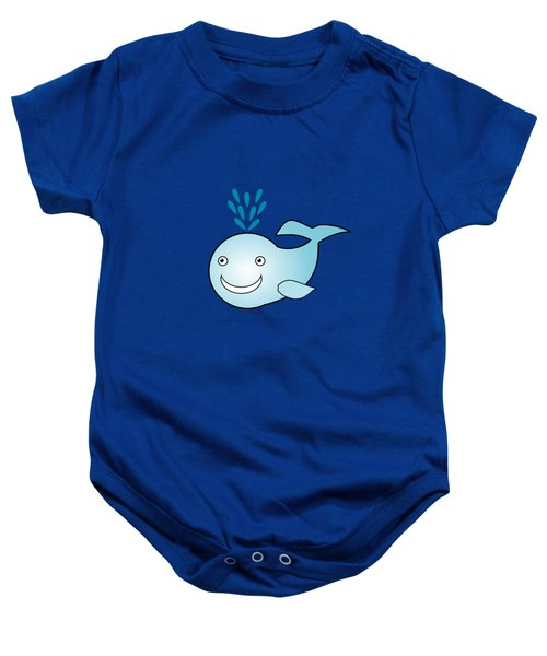 Whale - Animals - Art For Kids Baby Onesie by Anastasiya Malakhova