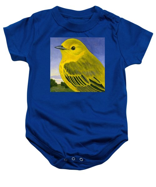 Yellow Warbler Baby Onesie by Francois Girard