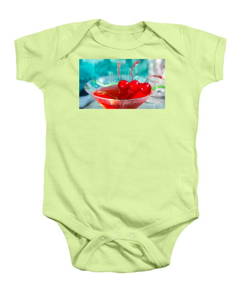 Shirley Temple Drink Baby Onesie by Iris Richardson