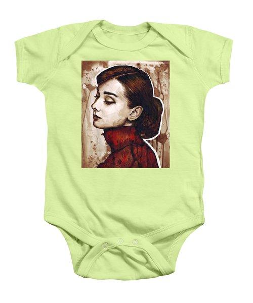 Audrey Hepburn Baby Onesie by Olga Shvartsur