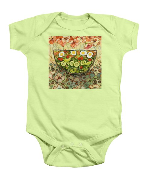Cool Summer Salad Baby Onesie by Jen Norton