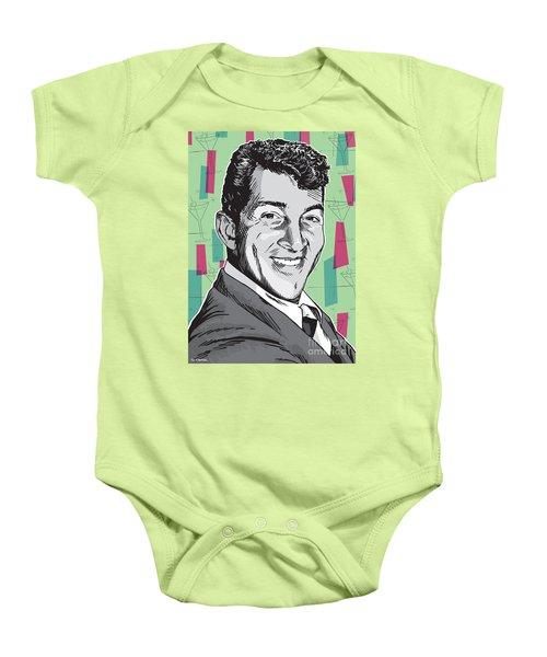 Dean Martin Pop Art Baby Onesie by Jim Zahniser