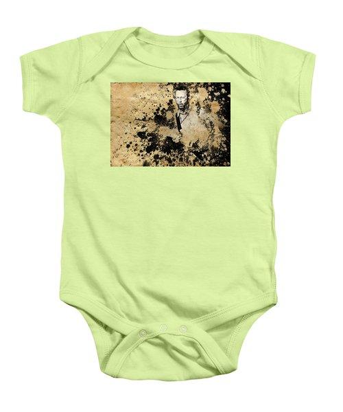 Eric Clapton 3 Baby Onesie by Bekim Art