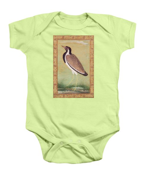 Indian Lapwing Baby Onesie by Mansur