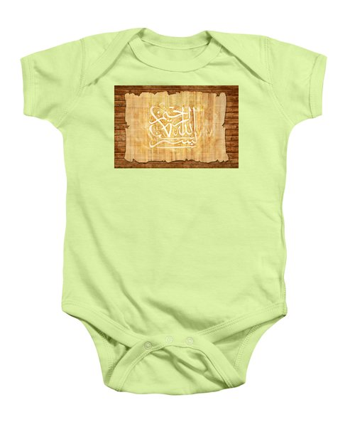 islamic Calligraphy 032 Baby Onesie by Catf