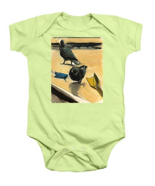 Pigeons Baby Onesie by Daniel Clarke