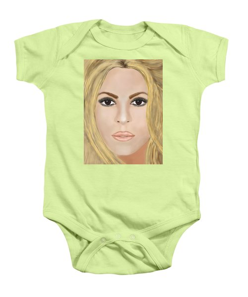 Shakira Baby Onesie by Mathieu Lalonde