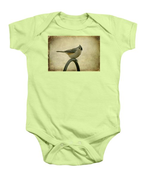 Tufted Titmouse II Baby Onesie by Sandy Keeton