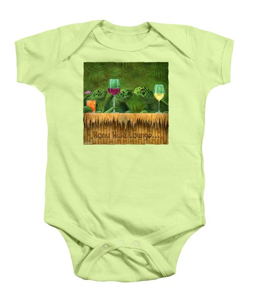Honu Hula Lounge... Baby Onesie by Will Bullas