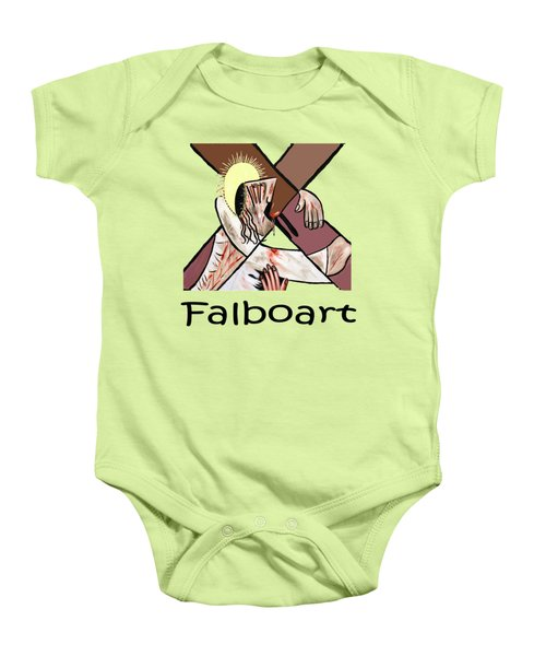 By My Wounds You Were Healed Baby Onesie by Anthony Falbo