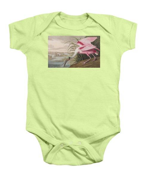 Roseate Spoonbill Baby Onesie by John James Audubon