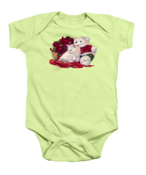 Christmas Kitten Baby Onesie by Lucie Bilodeau