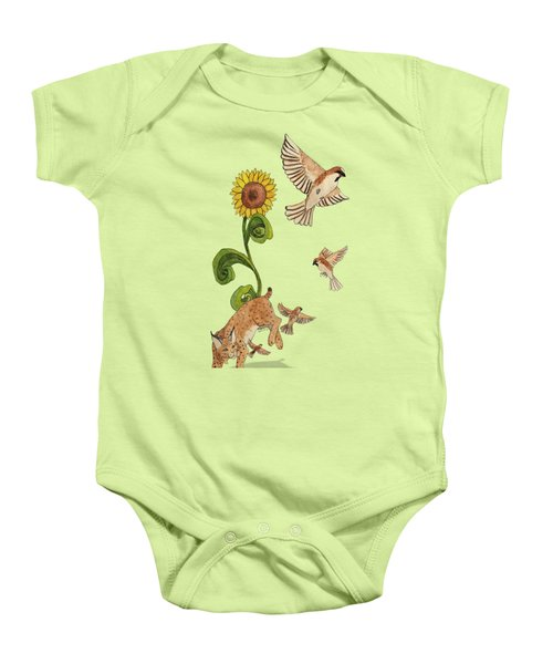 Bobcats And Beeswax Baby Onesie by Teighlor Chaney