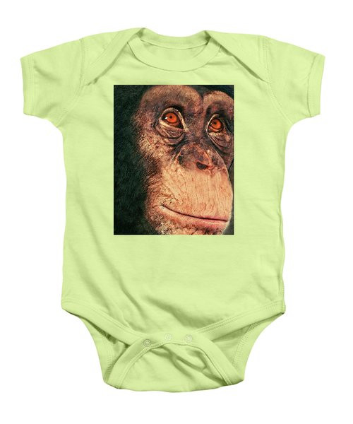 Chimp Baby Onesie by Jack Zulli