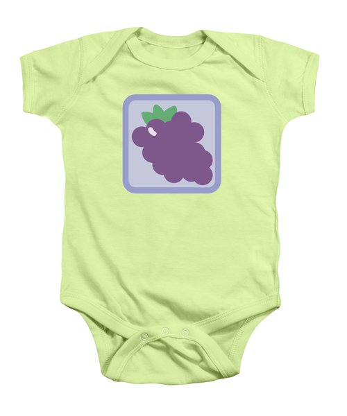 Cute Grapes Baby Onesie by Caroline Goh
