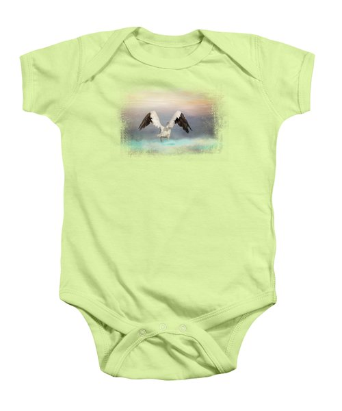Early Morning Swim Baby Onesie by Jai Johnson