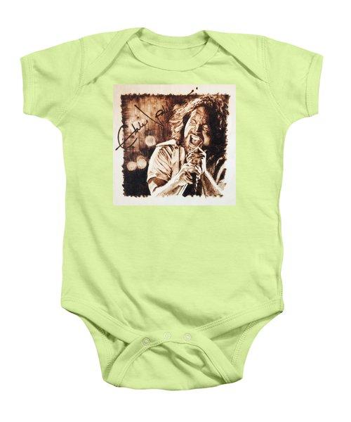 Eddie Vedder Baby Onesie by Lance Gebhardt