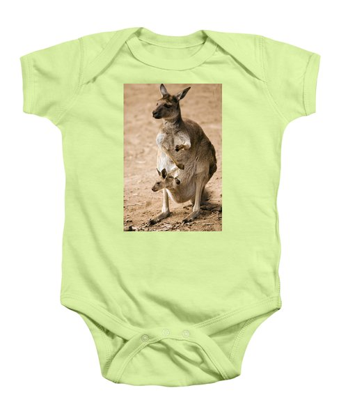In  Mother's Care Baby Onesie by Mike  Dawson