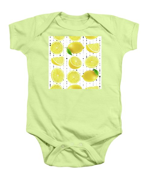 Lemon  Baby Onesie by Mark Ashkenazi
