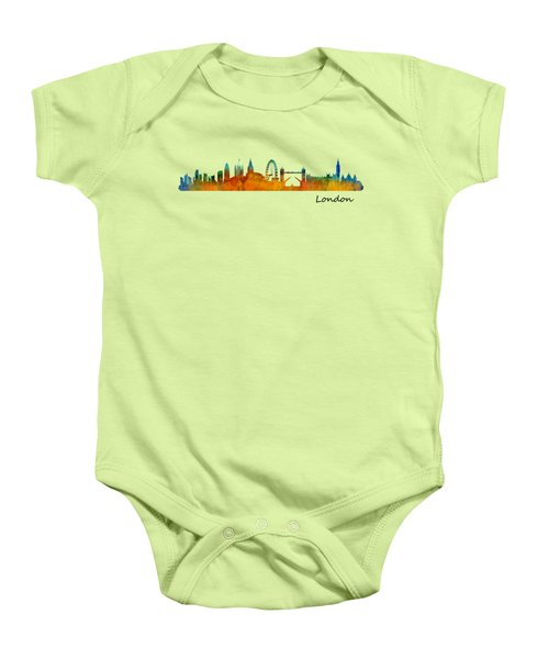 London City Skyline Hq V1 Baby Onesie by HQ Photo