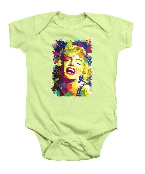 Marilyn Monroe Baby Onesie by Anthony Mwangi