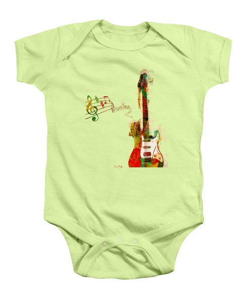 My Guitar Can Sing Baby Onesie by Nikki Smith