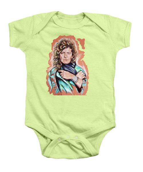 Robert Plant Baby Onesie by Melanie D