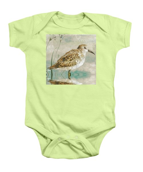 Sandpiper I Baby Onesie by Mindy Sommers