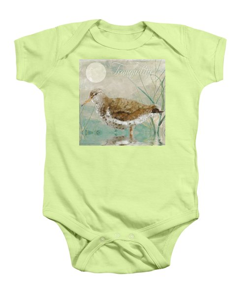 Sandpiper II Baby Onesie by Mindy Sommers