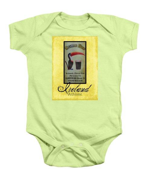 Seans Bar Guinness Pub Sign Athlone Ireland Baby Onesie by Teresa Mucha