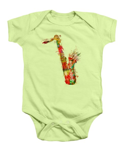 Sexy Saxaphone Baby Onesie by Nikki Smith