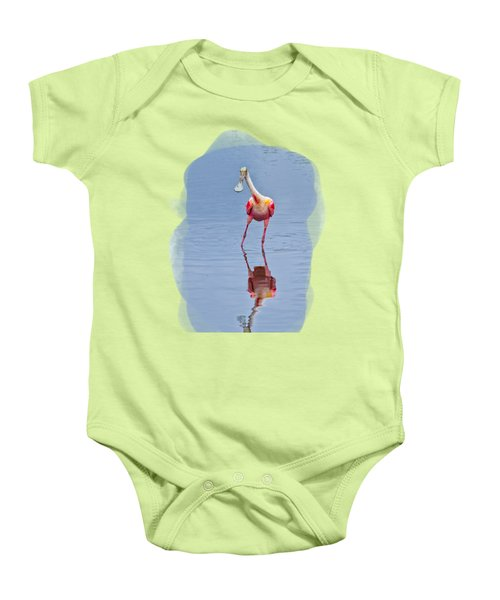 Spoonbill 1 Baby Onesie by John M Bailey