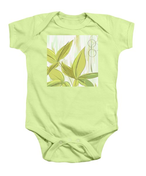 Spring Shades - Muted Green Art Baby Onesie by Lourry Legarde