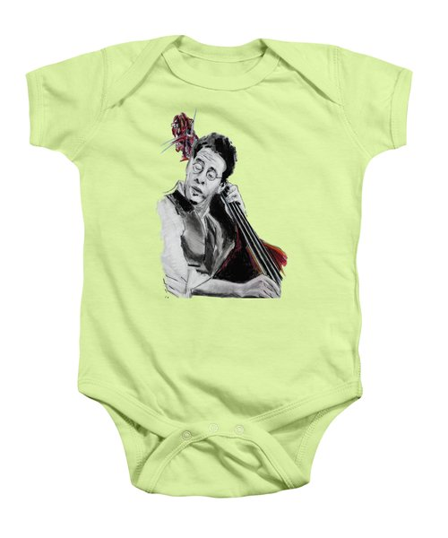 Stanley Clarke Baby Onesie by Melanie D
