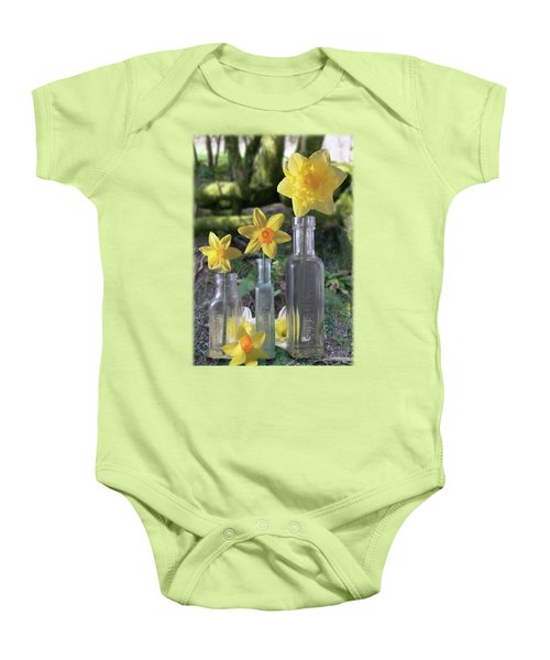 Still Life In The Woods Baby Onesie by Jon Delorme