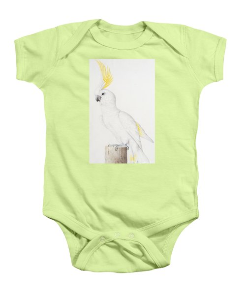 Sulphur Crested Cockatoo Baby Onesie by Nicolas Robert
