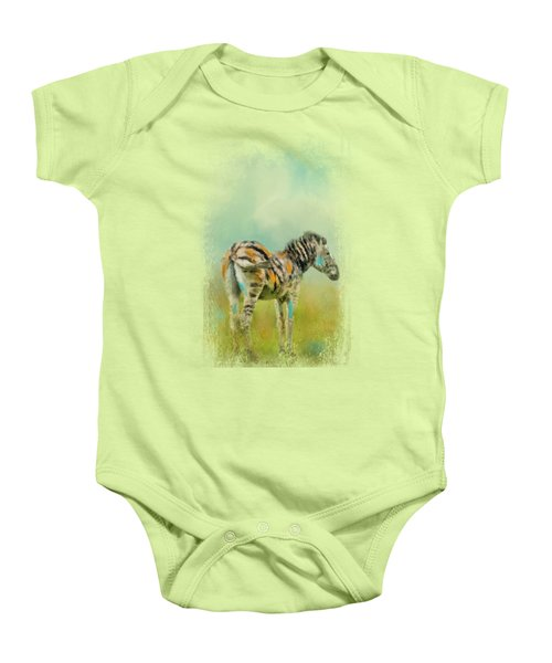 Summer Zebra 1 Baby Onesie by Jai Johnson
