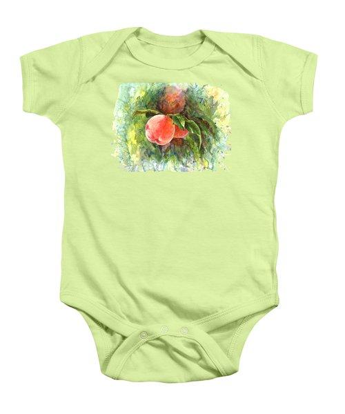 Sunny Peaches Baby Onesie by Irina Viatkina