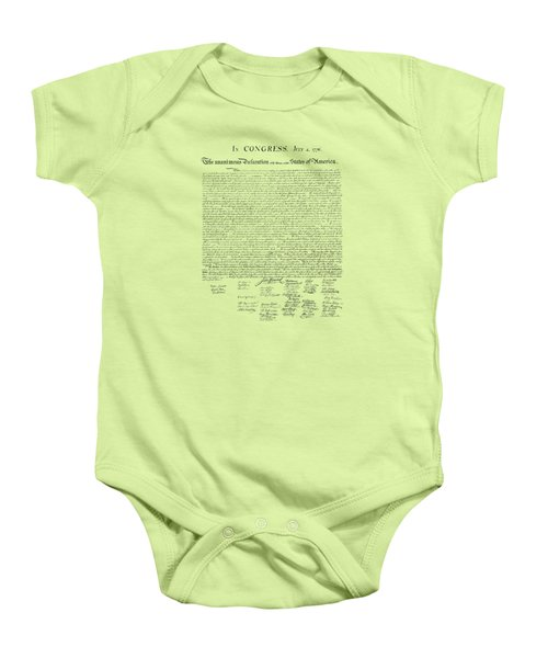 The Declaration Of Independence Baby Onesie by War Is Hell Store