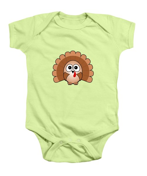 Turkey - Birds - Art For Kids Baby Onesie by Anastasiya Malakhova
