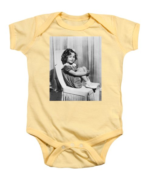 Actress Shirley Temple Baby Onesie by Underwood Archives