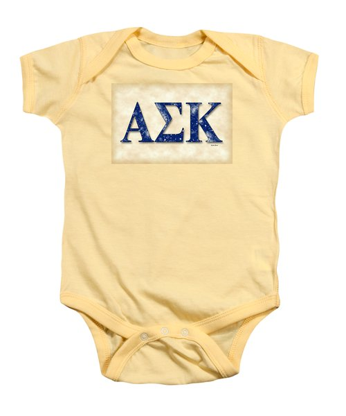 Alpha Sigma Kappa - Parchment Baby Onesie by Stephen Younts