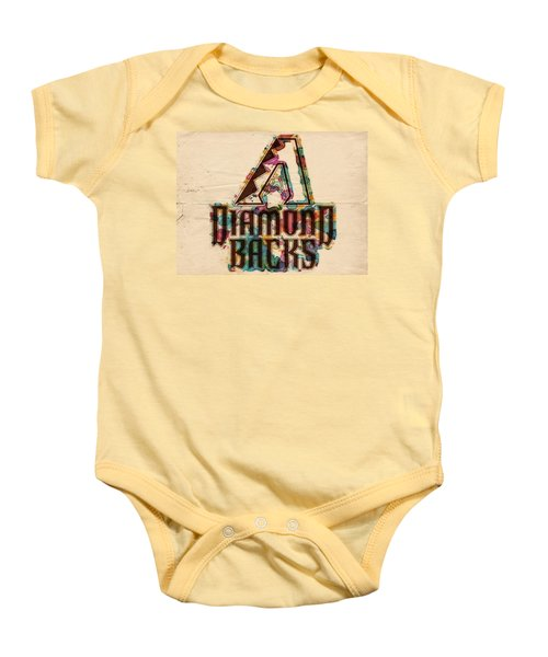 Arizona Diamondbacks Poster Vintage Baby Onesie by Florian Rodarte