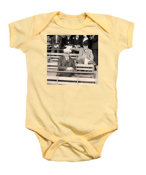 Babe Ruth In The Stands At Griffith Stadium 1922 Baby Onesie by Mountain Dreams