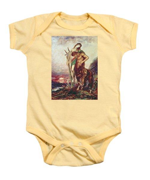 Dead Poet Borne By Centaur Baby Onesie by Gustave Moreau