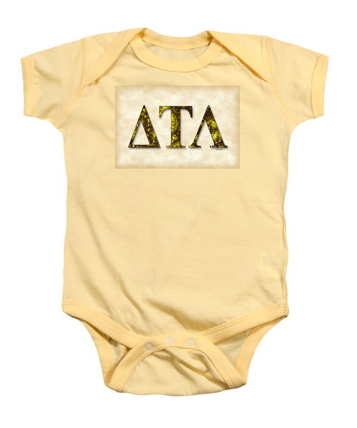 Delta Tau Lambda - Parchment Baby Onesie by Stephen Younts