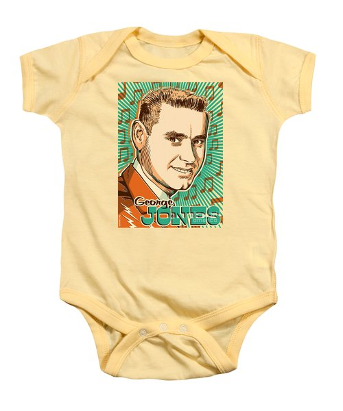 George Jones Pop Art Baby Onesie by Jim Zahniser